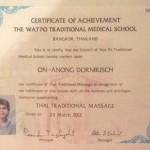Zertifikat - Traditionelle Thai-Massage